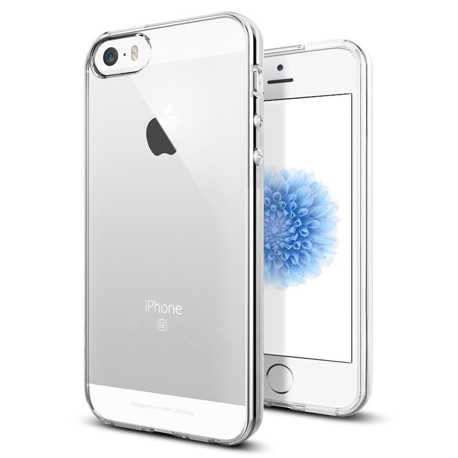 TENOC Case for Apple iPhone 5/5s/SE, Crystal Clear Soft TPU Full Protective Cover